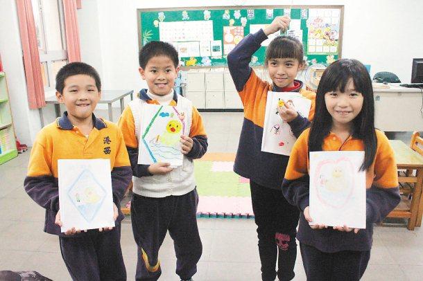 基隆巿港西國小也有迷你班,一班才4名學生。 記者牟玉珮╱攝影