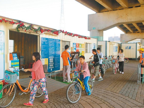 整合河濱公共自行車租借服務,新北市將增加夜騎車款並提供跨夜還車優惠。 圖╱自行車...