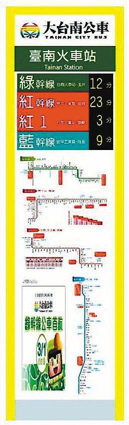 智慧顯示型站牌。 圖/公共運輸處提供