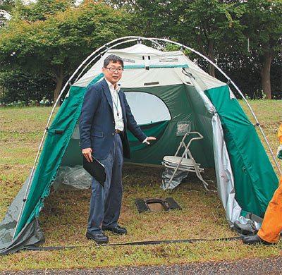 日本防災公園災用廁所。 圖/內政部提供