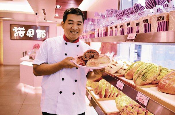 網路名店「諾貝爾」奶凍捲業者率先參與宜蘭家扶的待用餐平台。 記者廖雅欣╱攝影