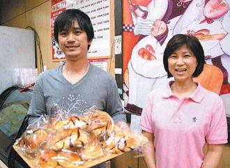 卡諾塔麵包店老闆劉彥賓夫婦。 記者陳珮琦/攝影