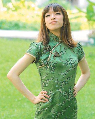 許傑欽自認是帥氣型女生。 記者劉學聖/攝影