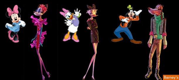 迪士尼廣告把米妮變成「紙片人」,引起美國家長們的批評。 圖/擷取自youtube
