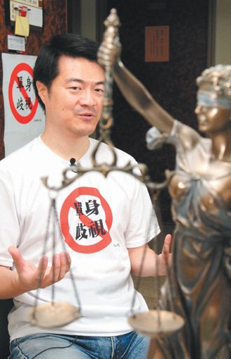 劉宏恩堅決「反單身歧視」,就算將來結婚也不會改變原則。 記者鄭超文/攝影