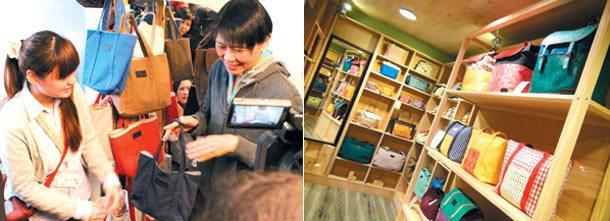 總統夫人周美青買了「美青包」後,更多人慕名而來,要找風格獨特的手工包。 圖╱台灣...