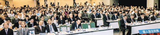 聯合報系上午舉辦「關鍵2013:為台灣經濟開路高峰會」座談會。 記者黃士航╱攝影