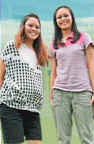劉慧賢(右):與其他國家相比,新加坡學生對多元種族的「忍耐度」比較高。劉慧慧...