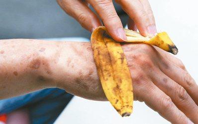 別再抹蕉皮。 記者陳正興/攝影