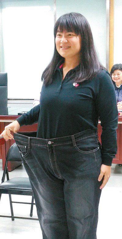 靠飲食控制和規律運動,劉小姐從115公斤減到79公斤,成為今年台北市健康體重控制...