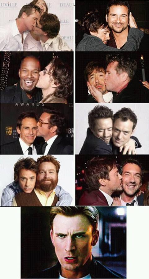 「鋼鐵人」小勞勃道尼(Robert Downey Jr)竟然對「美國隊長」克里斯伊凡(Chris Evans)下挑戰書,不過挑戰的內容不是什麼打擊壞人,而是搞「基」?!小勞勃道尼在臉書貼出自己與多位...