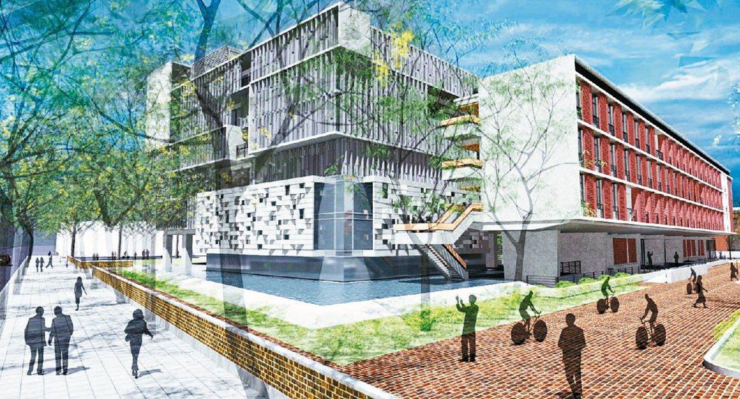 台灣大學預計新建的人文大樓(為示意圖,靠新生南路側)圖/台大文學院提供