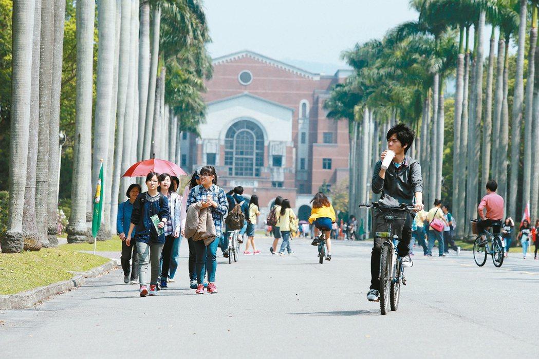 台大。 聯合報資料照/記者楊光昇攝影