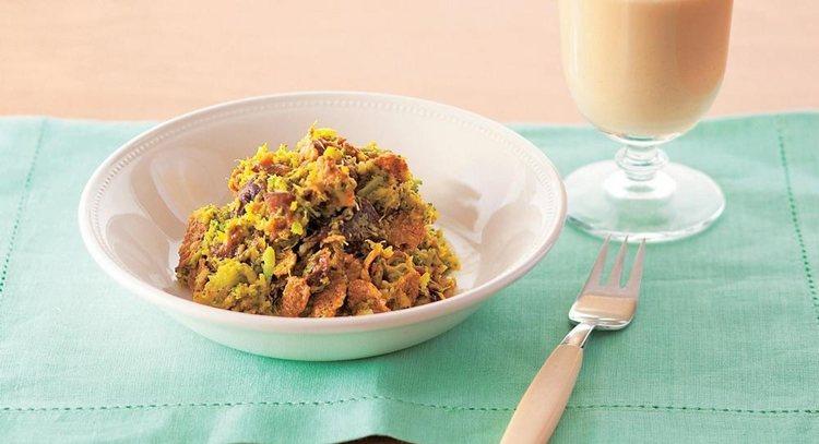 青花南瓜沙拉含有大量膳食纖維。 圖片來源/出版社提供