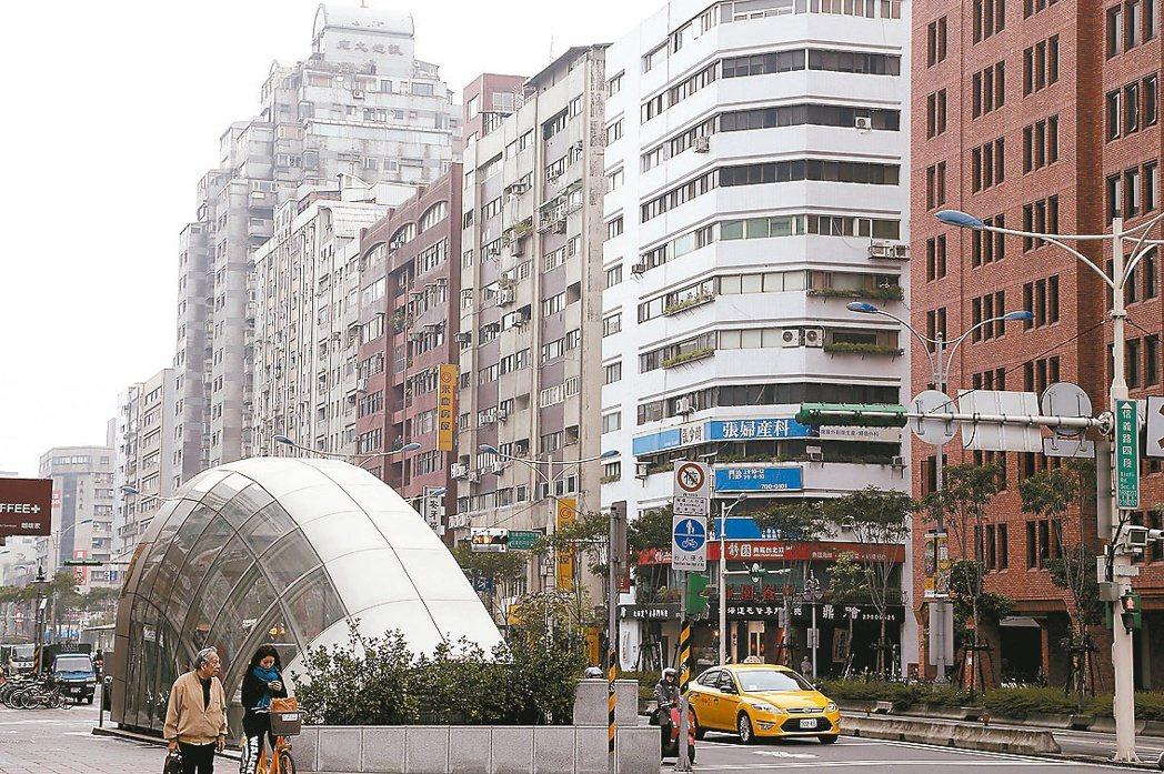 信義路四段周邊街景 記者黃威彬/攝影