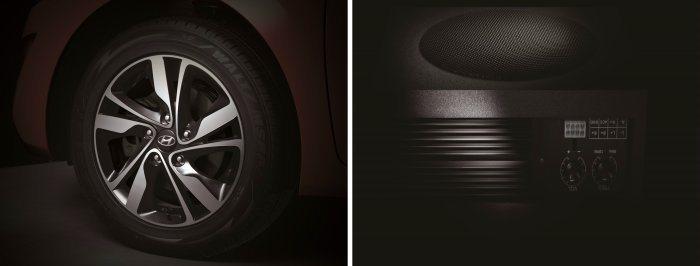 Elantra英倫特仕版加入了全新黑銀16吋雙色鋁圈,以及重低音喇叭。 Hyun...