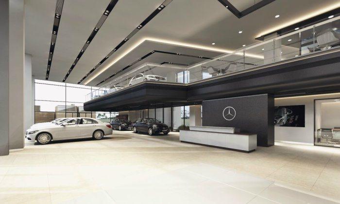中彰賓士台中全功能展示中心將以時尚奢華融入整體設計氛圍。 台灣賓士提供