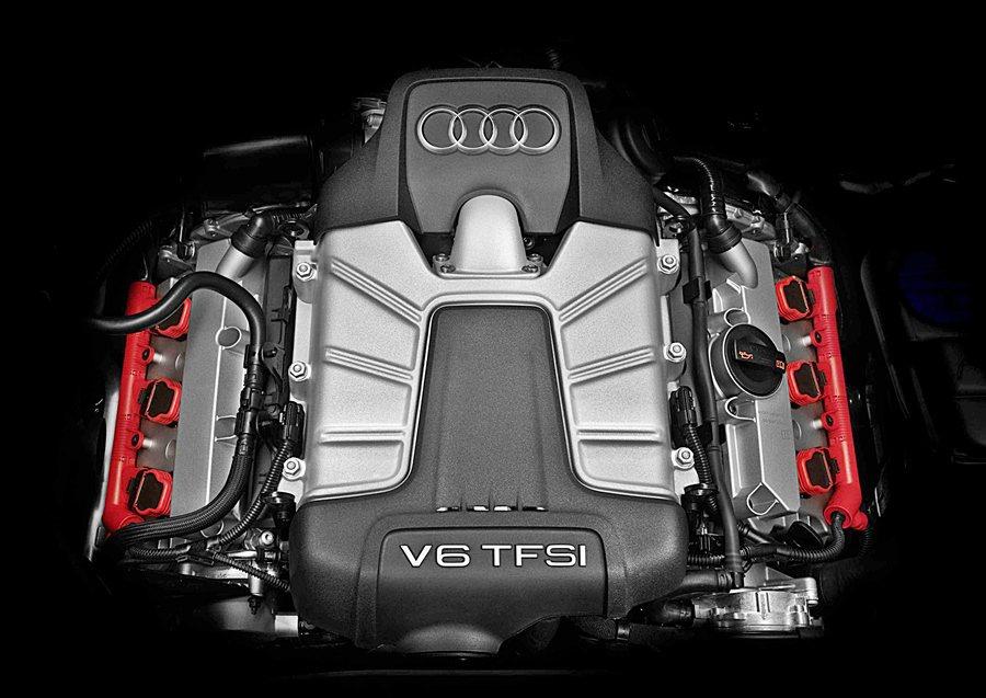 動力為90度夾角的3.0升V6的TFSI機械增壓引擎,最大馬力354匹、最大扭力...