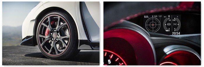 前輪採輕量化鋁圈、Brembo四活塞卡箝及350mm打孔通風碟。儀錶板則具備豐富...