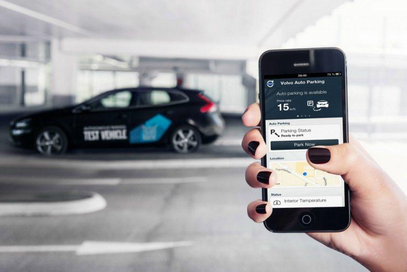 Volvo Autonomous Parking可透過Apple iOS系統遙控...