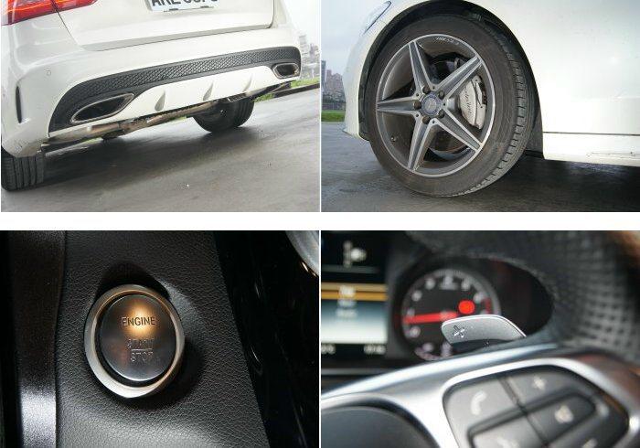 C250 Estate搭載AMG Line套件,不僅運動風格強烈,內裝引擎啟動鈕...