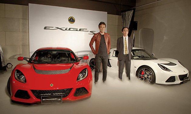 Gama Lotus總經理趙一葵(左)表示,由於Lotus產能,Exige S在...