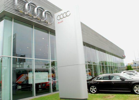占地1200坪的彰化全功能展示中心,是Audi今年搶進中台灣的跳板。 趙惠群
