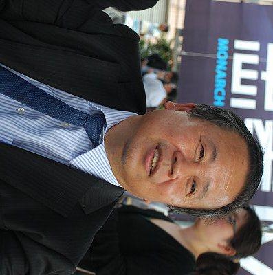 劉興臺預期今年車市難以維持去年35.6萬輛的水準。 圖/趙惠群