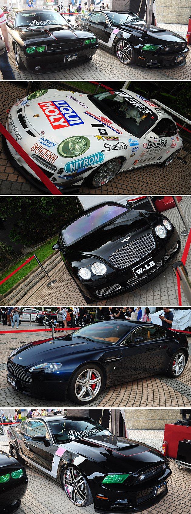 現場展出各款勁車,比照電影中的改裝車派對。 蔡志宇