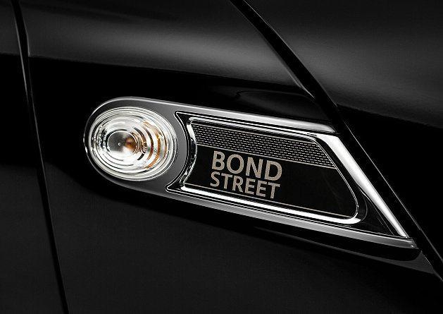 MINI Clubman Bond Street專屬車側方向燈飾版。 MINI
