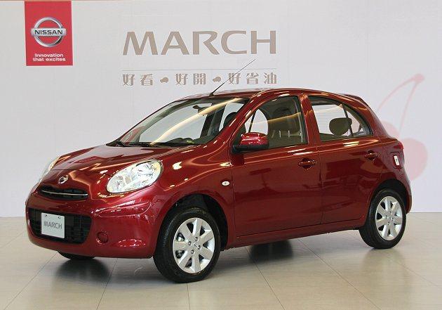 裕隆日產汽車追加100台限量March櫻桃紅夏日 版。 Nissan