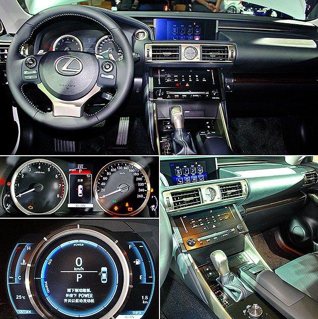 中控台界面分操控區和顯示分區配置,上有7吋大型螢幕,F SPORT車型儀表採單環...