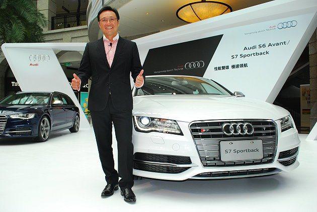 台灣奧迪總裁邱山祥表示今年性能車攻勢要讓消費者體認到Audi不只是奢華也宣樣有讓...