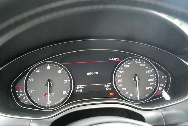 S7 Sportback儀表中央有彩色行車資訊顯示螢幕。 趙惠群