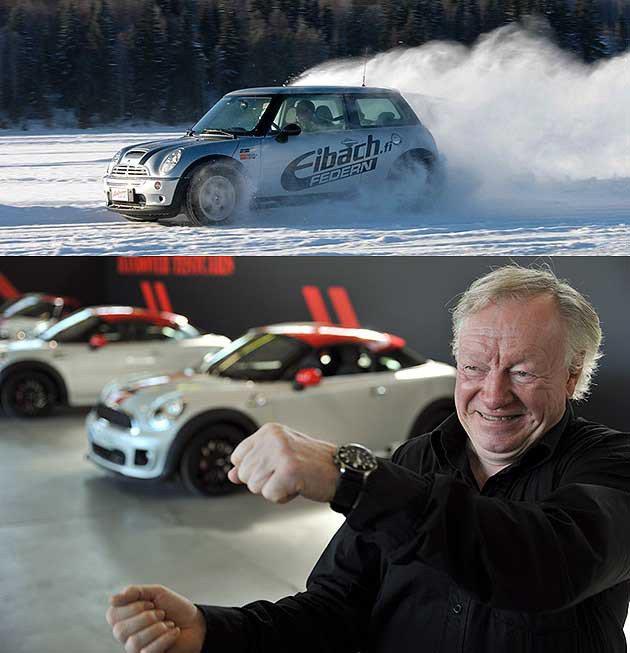 Rauno Aaltonen在全球課地提供駕駛技巧的傳授課程。 編輯部