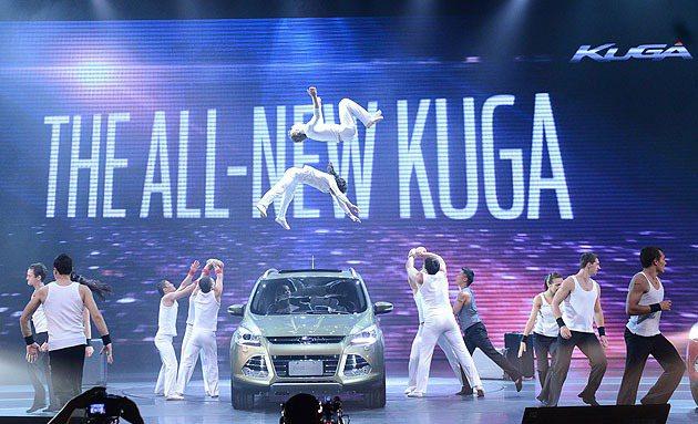 福特六和為Kuga的上市舉辦了相當精采的表演。 蔡志宇