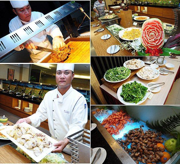 宋金文主廚以台東的在地食材,為遊客準備了特色buffat。 蔡志宇