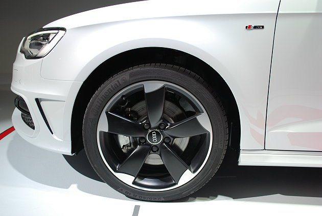 A3 Sportback 1.8 TFSI銳利的五輻式輪圈。 記者趙惠群/攝影