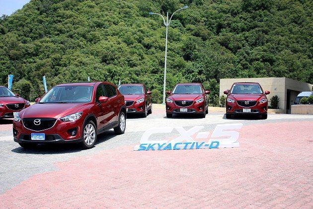 CX-5 SKYACTIV-D柴油車型要給予民眾駕駛樂趣與出色性能。 記者林和謙...