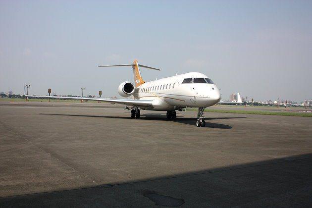 飛特立航空商務機亮相。 記者林和謙/攝影