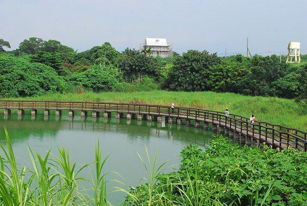小南海環湖步道。 記者趙惠群/攝影