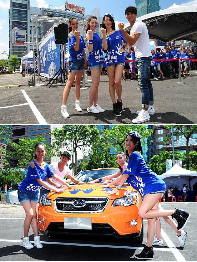 2013伊林璀璨之星男女冠軍及女子組季軍、亞軍為參賽者加油。 蔡志宇