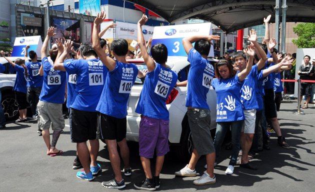 烈日下90多名參賽者爭奪最後前往新加坡的機會。 蔡志宇
