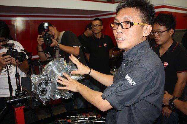 Ducati亞太區資深技術講師Eugene Teo來台授課。 記者林和謙/攝影