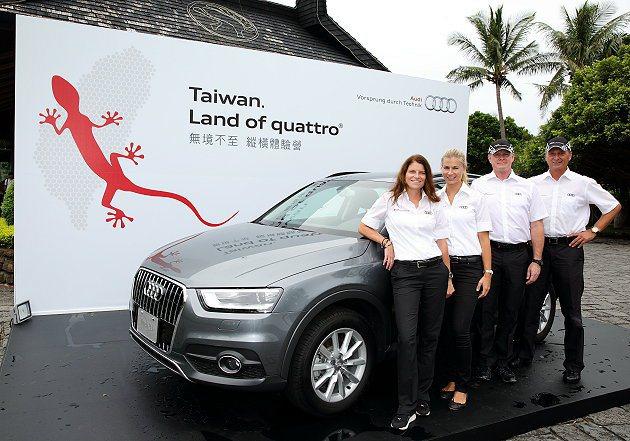 無境不至縱橫體驗營由四位德國的專業車手下場傳授安駕美技。 記者趙惠群/攝影