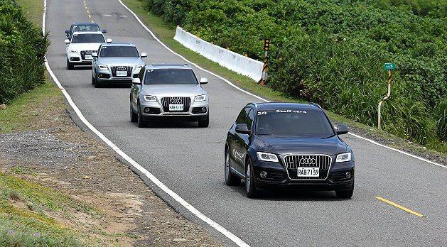 Audi無境不至縱橫體驗營組成車隊帶車主深入恆春半島祕徑。 記者趙惠群/攝影