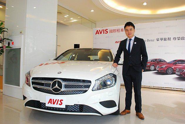 台灣AVIS董事長彭仕邦表示,未來會推出其他的豪華車租乘以滿足特殊租車需求。 記...