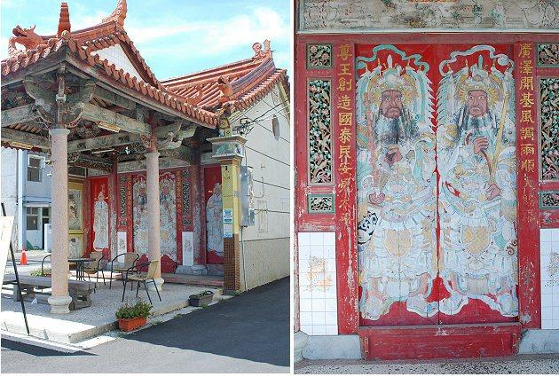 永鎮宮與其廟門。 記者趙惠群/攝影