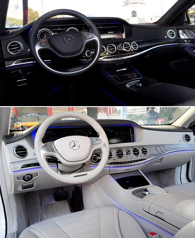 上為S350 L的內裝,下為S500 L。 蔡志宇