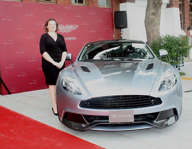 Aston Martin全球銷售主管Maria Plunkett也來台。圖為旗艦...
